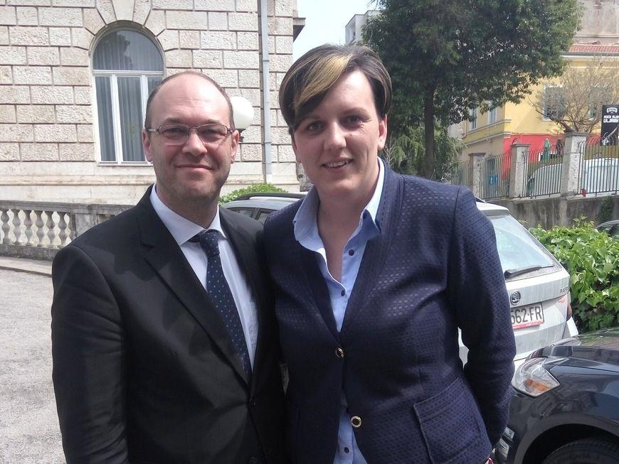 Davor Ivo Stier i Monika Udovičić u Puli